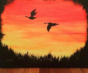 art, artist, and birds image