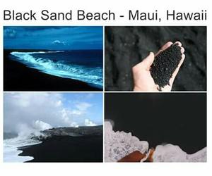 beach, hawaii, and black image