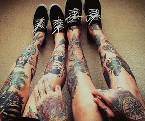 tattoo, couple, and boy image