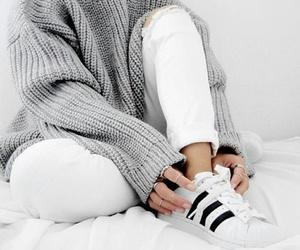 adidas, fashion, and white image