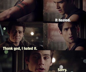 funny, stiles, and scott image