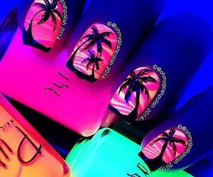nails, neon, and summer image