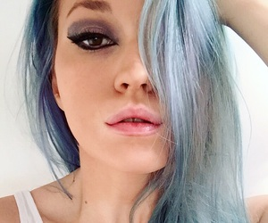 beauty, blue hair, and december image