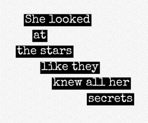 quote, secrets, and stars image