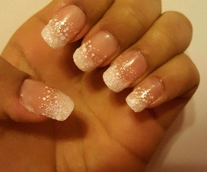 french, nails, and pink image