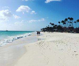 beach, Carribean, and aruba image