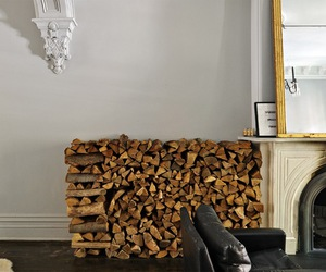 interior, stack, and wood image