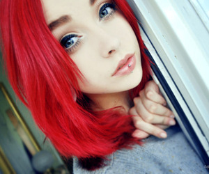 johanna herrstedt, red hair, and piercing image
