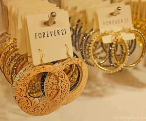 forever 21, earrings, and fashion image