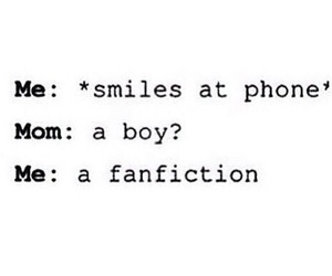 books, mom, and fanfiction image