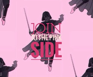 black, darth vader, and pink image