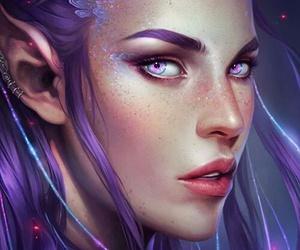fantasy, art, and elf image