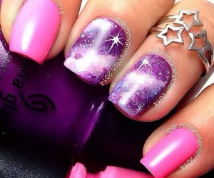 nails, galaxy, and pink image