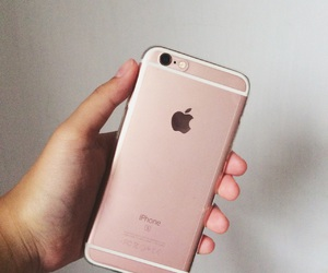 iphone, 6s, and rosegold image