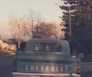 blue, chevrolet, and old image