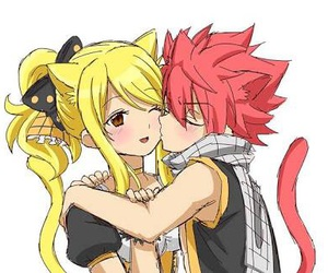 nalu, Lucy, and fairy tail image