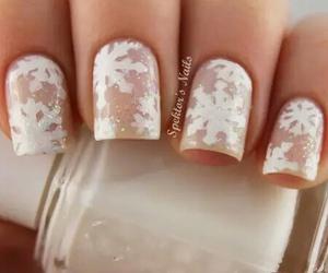 nails, snowflake, and christmas image
