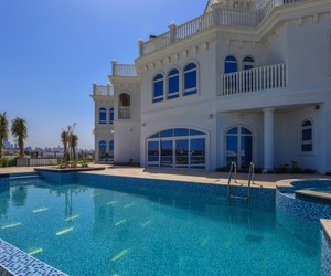 Dubai, house, and pool image