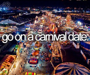 carnival, date, and bucket list image
