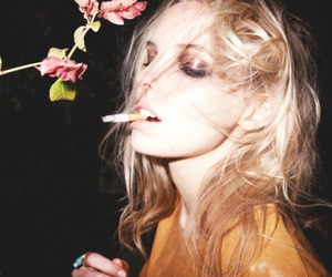 girl, cigarette, and blonde image