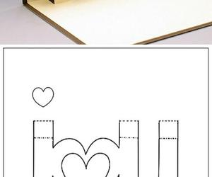 diy, card, and I Love You image
