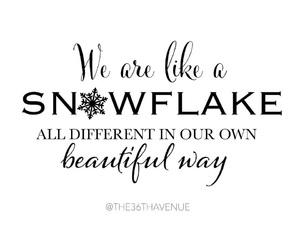 beautiful, christmas, and snowflakes image