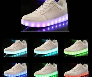 fashion, led shoes, and usb image