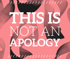 apology, black, and easel image