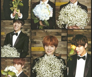 Collage, flowers, and kpop image