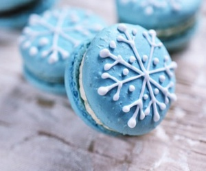 cupcake, blue, and christmas image
