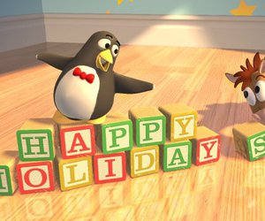 toy story and happy holidays image