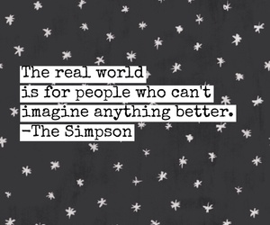 imagine, simpson, and real world image