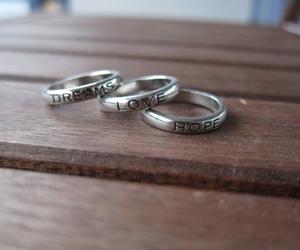 dreams, hope, and ring image