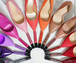 shoes, lipstick, and colors image