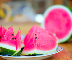 food, yummy, and watermelon image