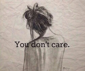 care, you, and sad image