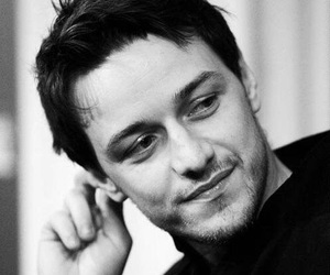 james mcavoy, actor, and black and white image