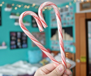 blue room, candy canes, and christmas image
