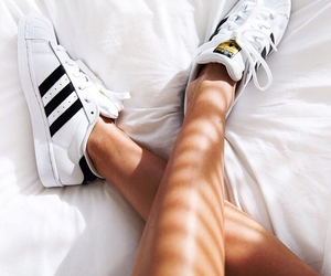 adidas, shoes, and tan image