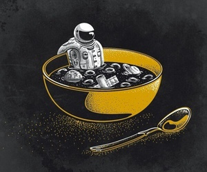 space, yellow, and eatme image