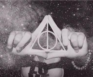 harry potter, hipster, and triangle image