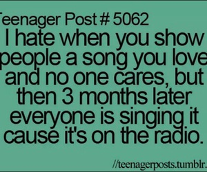 teenager post, song, and quote image