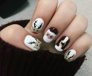 christmas, nails, and polish image