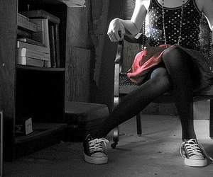 black and white, pink, and punk image
