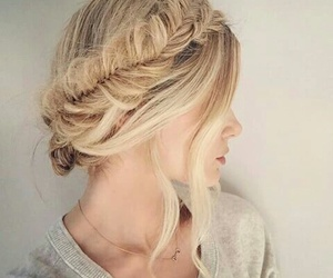 blond, braid, and curls image