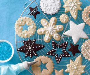 Cookies, christmas, and stars image