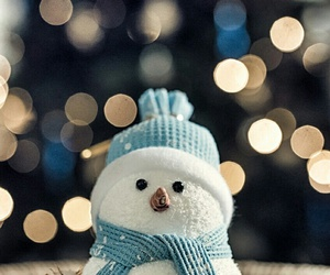 winter, snowman, and christmas image