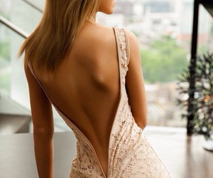 back, beautiful, and gown image