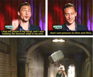 loki, thor, and funny image