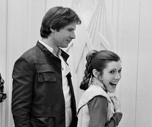 carrie fisher, han solo, and star wars image